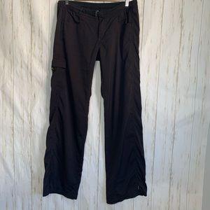 Prana Women Cargo Pants Sz 10 Black Stright Leg
